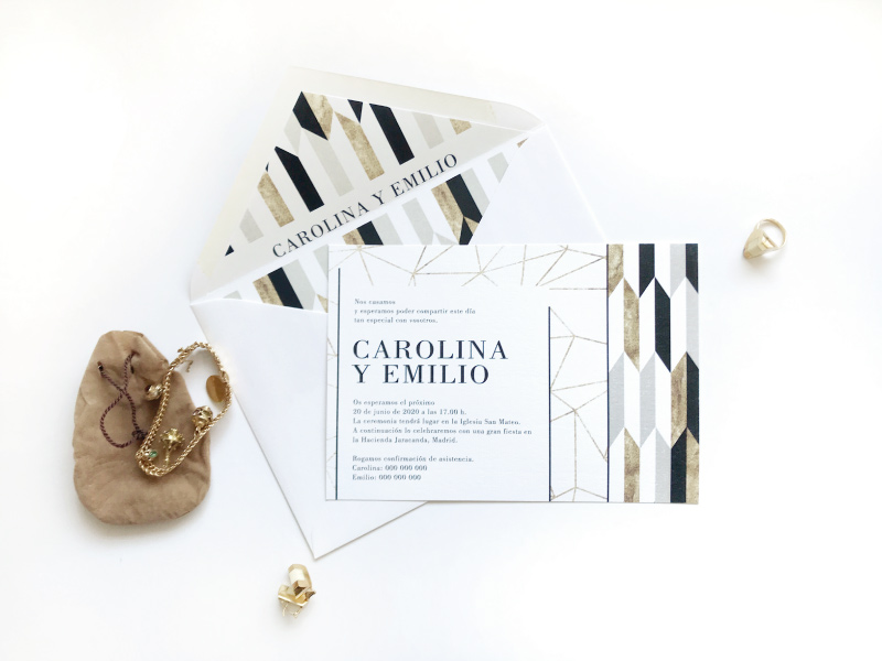 invitaciones de boda vintage