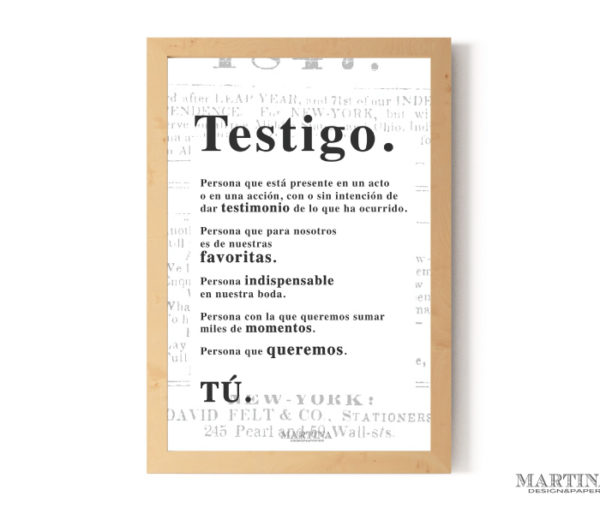 mr wonderful testigos boda