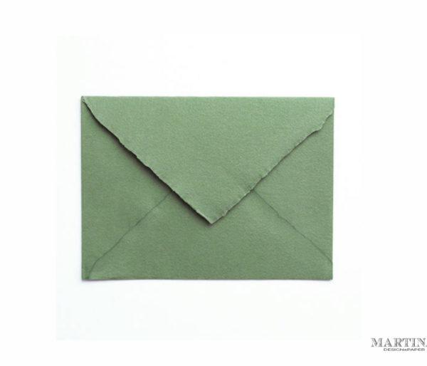 Sobres para invitacion artesanal verde