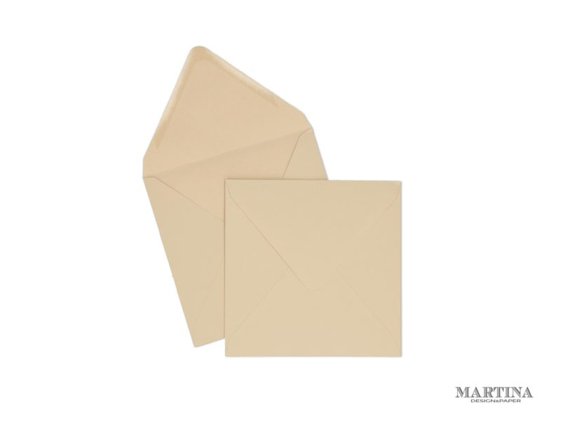 sobres para invitaciones de boda cuadrado beige