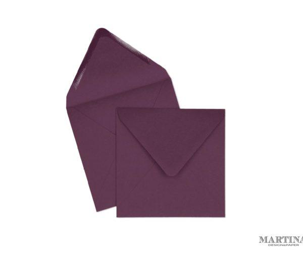 Sobres para invitaciones de boda cuadrado violeta