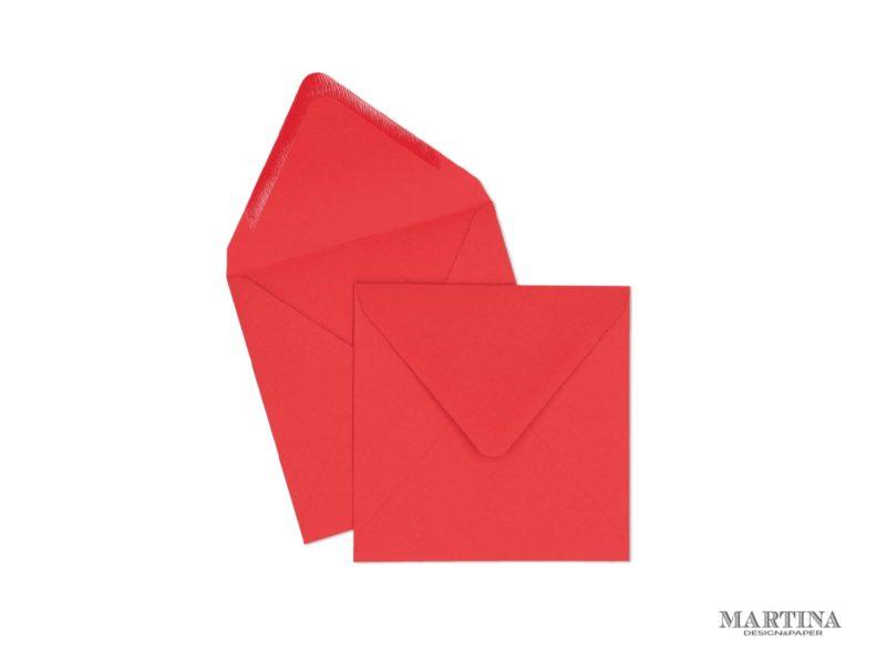 Sobres para invitaciones de boda cuadrado rojo
