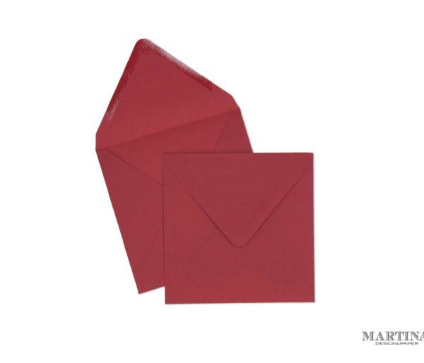 Sobres para invitaciones de boda cuadrado rojo cereza