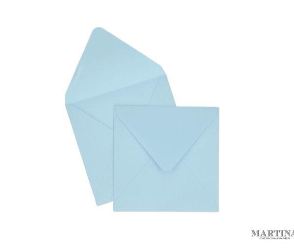 Sobres para invitaciones de boda cuadrado azul celeste