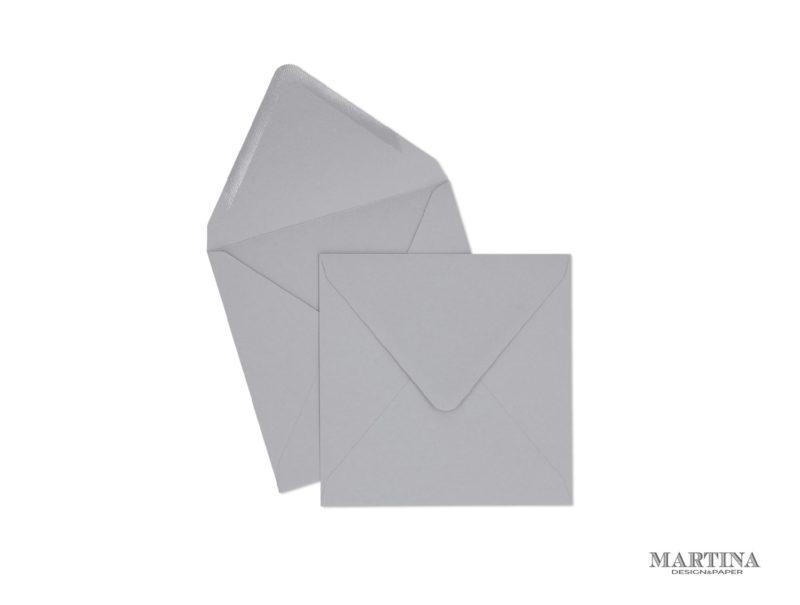 Sobres para invitaciones de boda cuadrado gris