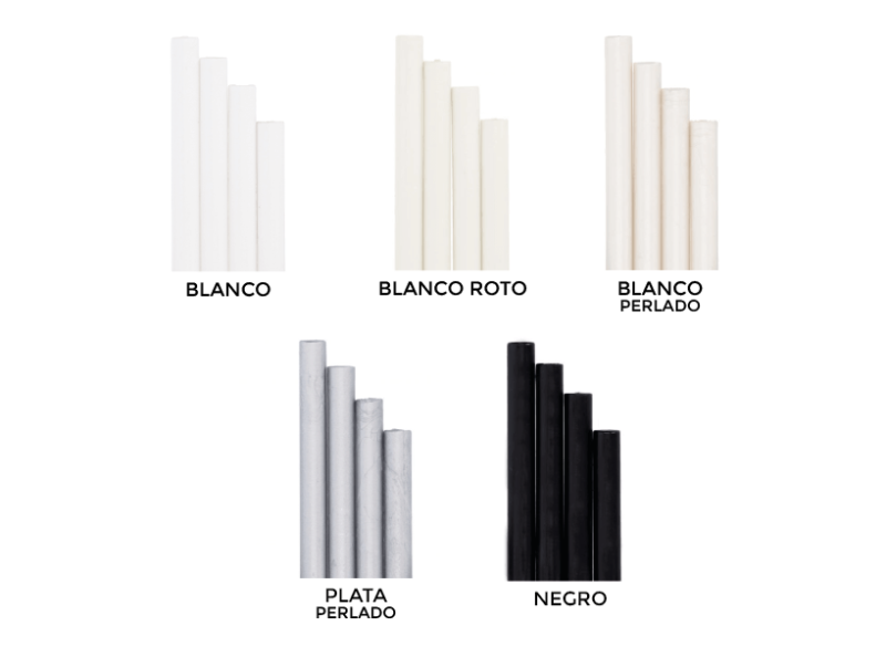 BARRAS DE LACRE COLORES ORIGINALES BLANCO