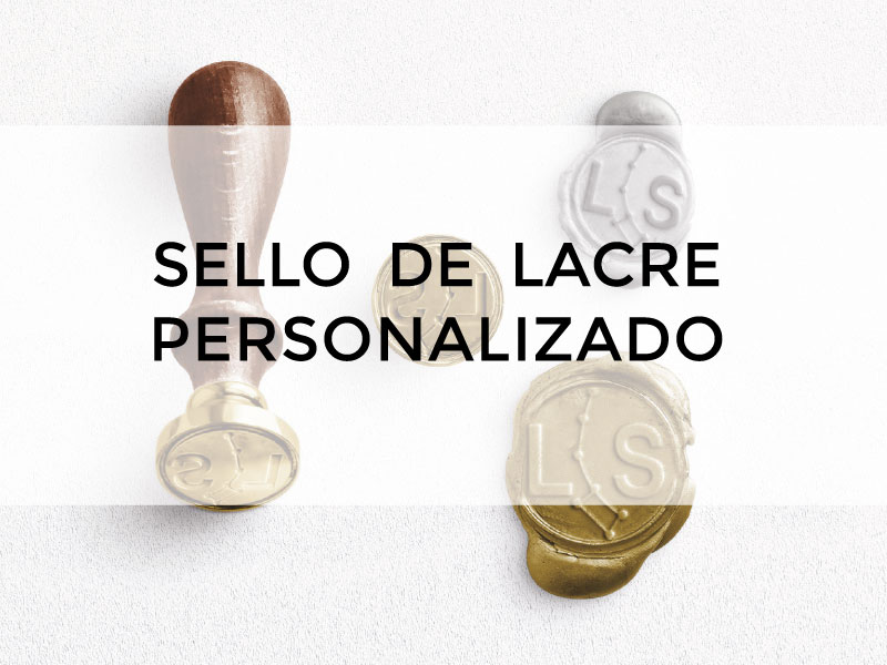 SELLO DE LACRE PERSONALIZADO PARA INVITACIONES DE BODA