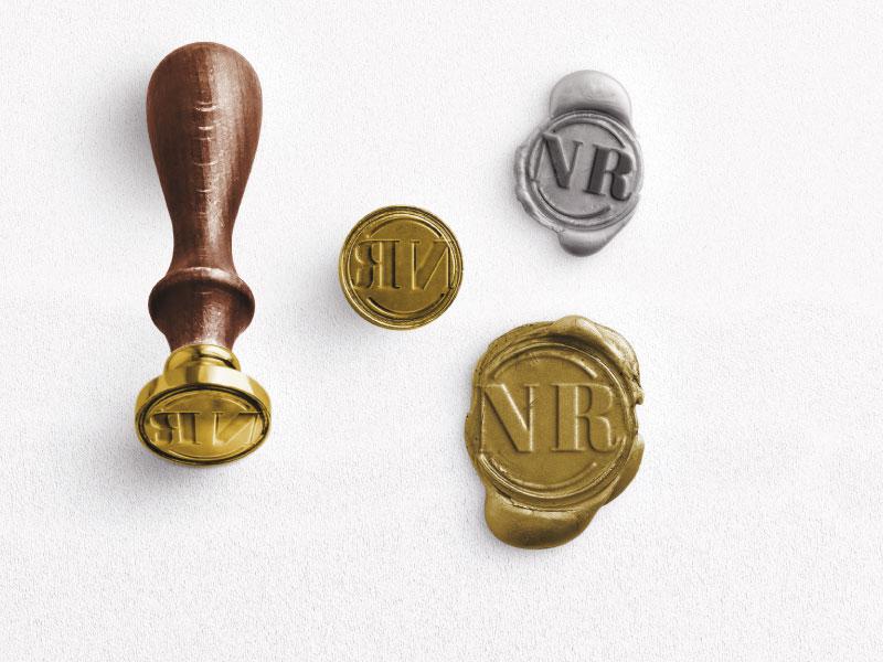 sellos de cera personalizados iniciales
