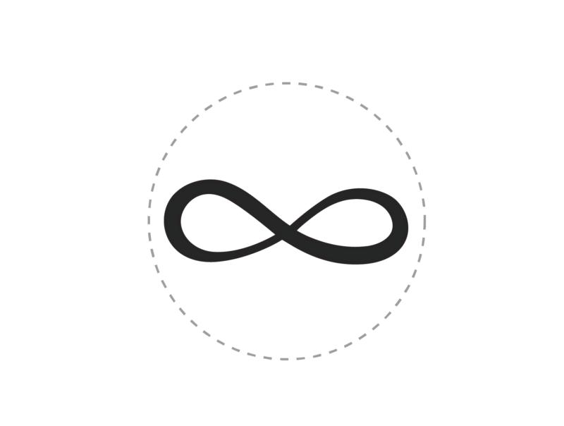 sello de cera simbolo infinito