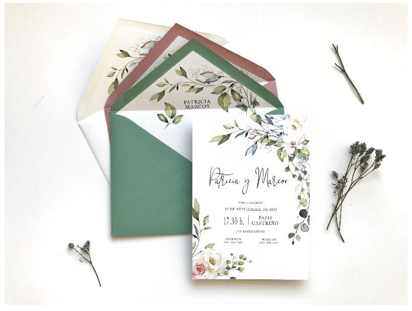 tarjetas de invitacion de boda originales