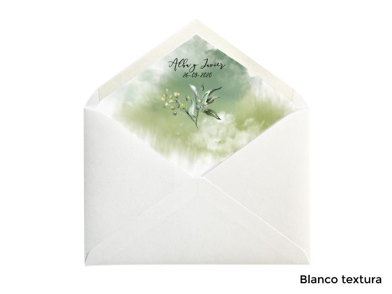 sobres forrados para invitacion de boda