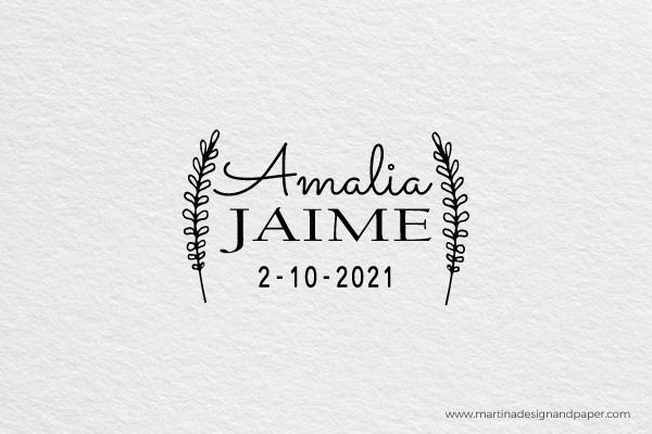 sello para invitacion de boda original