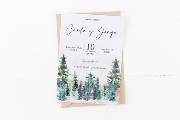 boda bosque