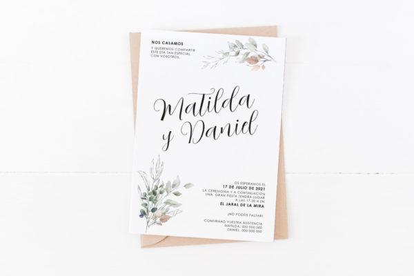 invitacion de boda clasica