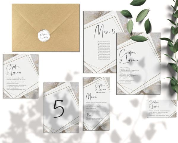 invitaciones de boda conjunto