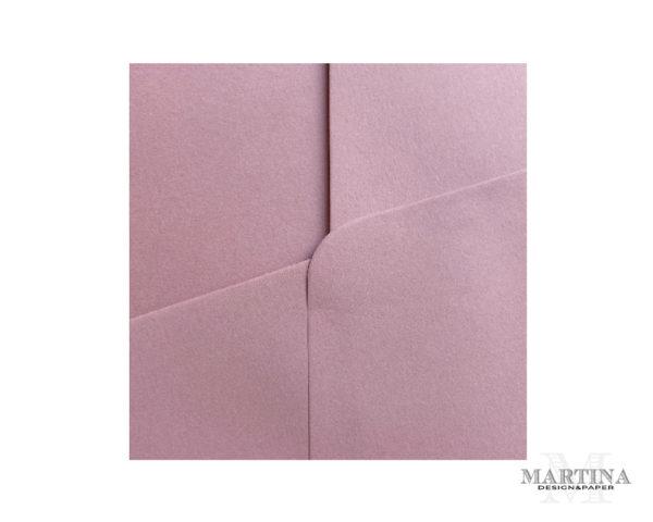 Sobres para invitaciones de boda rosa detalle del papel