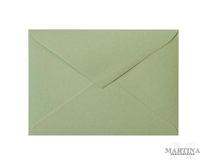 Sobres para invitaciones de boda verde elegante