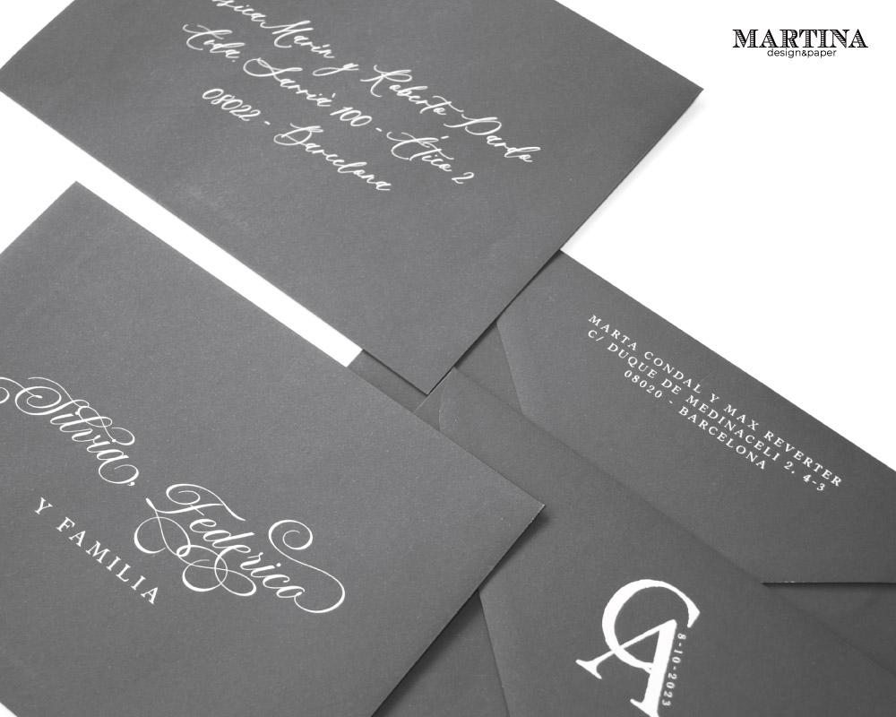 sobres de boda impresos