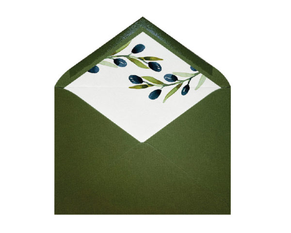 sobre forrados rama de olivo