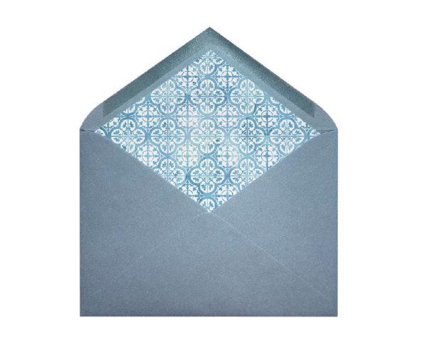 sobres forrados para invitaciones con mosaico
